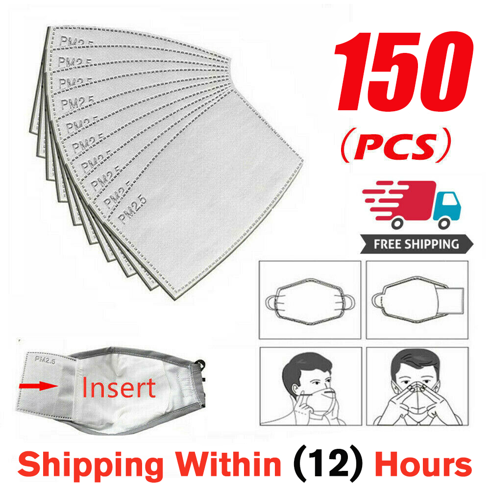 150pcs/Lot PM2.5 Filter Paper Anti Haze Mouth Mask Anti Dust Mask Activated Carbon Filter Paper Health Care