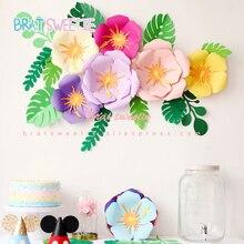 Вечерние бумажные цветы для настенного декора фламинго, свадебные декорации, рождественские декорации, товары для дня рождения, искусственные цветы