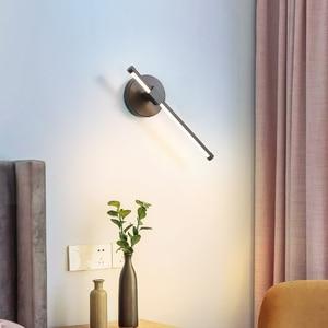 Image 3 - Lámpara de pared led para dormitorio, sala de estar, estudio, ajustable, decoración para el hogar, Blanco, Negro, acabado, 90 260V, novedad