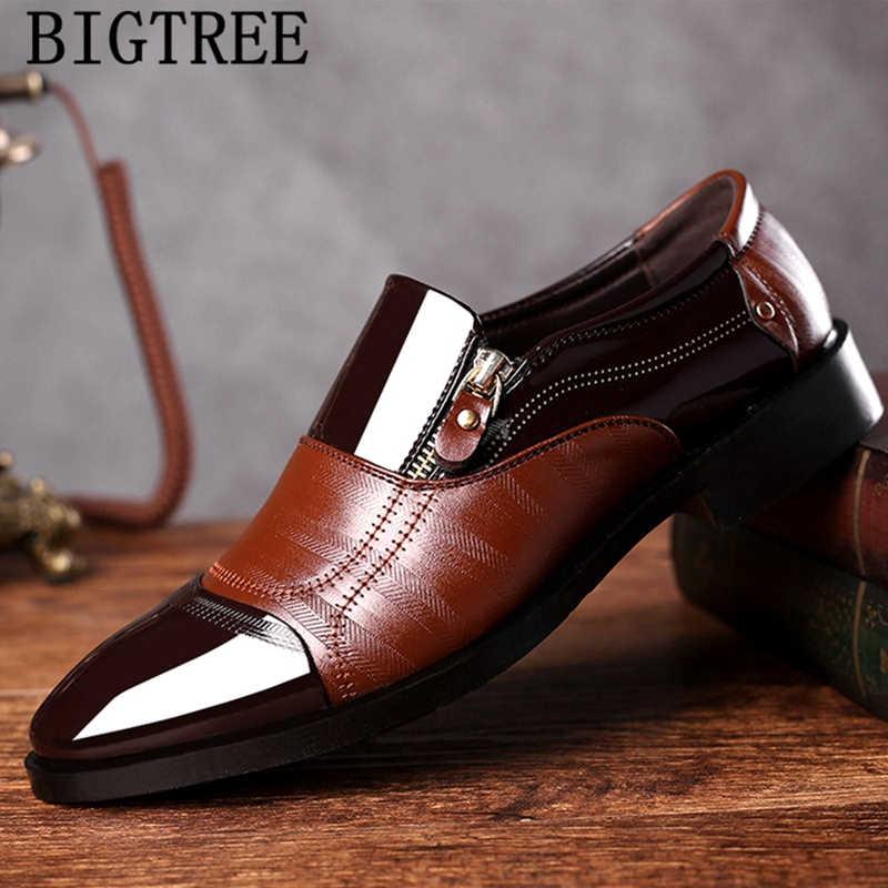Zapatos italianos de charol marrón para hombre, zapatos de vestir para hombre, zapatos formales para hombre, zapatos oxford para hombre