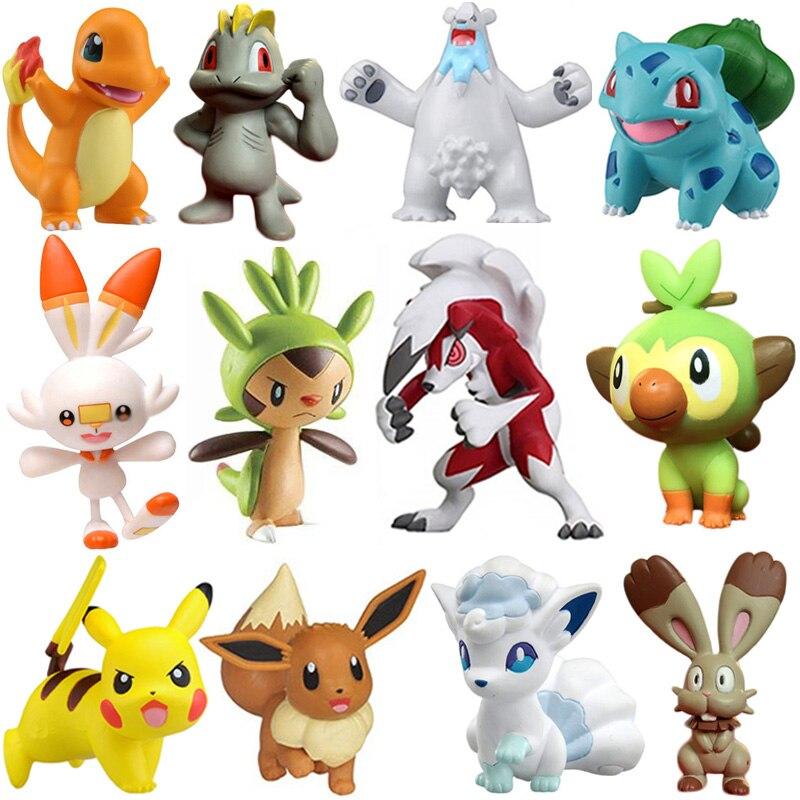 41 Тип аниме Rockruff Бульбазавр, чармандер Squirtle Eevee Machop Sobble Vulpix Snorlax Pokemones фигурку Горячие куклы игрушки