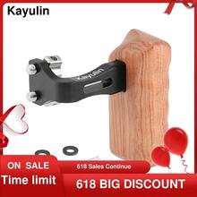 """Kayulin Reversible Wooden Hand Grip Medium Size With 1/4"""" 20 Thumbscrew Knob Left Side for DSLR Camera Cage Rig New Arrival"""