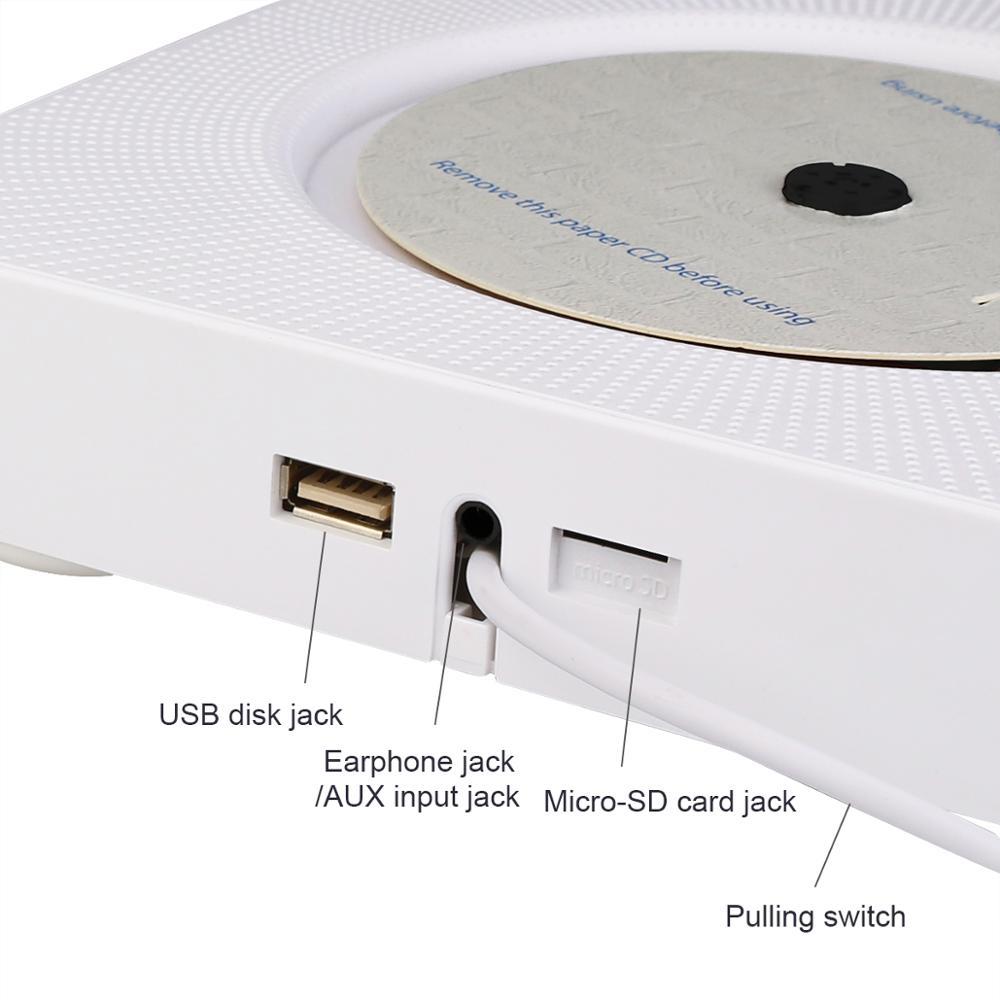 Retekess TR609 настенный CD плеер с fm радио Bluetooth динамик MP3 плеер дистанционное управление AUX аудио вход - 3