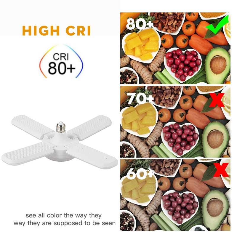 Творческий 30/45/60W Светодиодная лампа E27 Светодиодная лампа потолочный вентилятор светодионая лампа светильник 220 В складная лопасть вентиля...