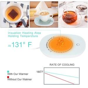 Image 4 - コーヒーマグ自動オン/オフ飲料ウォーマー電気スマートカップ加熱マットウォーマーパッドコーヒーミルクホームオフィス最高のギフト