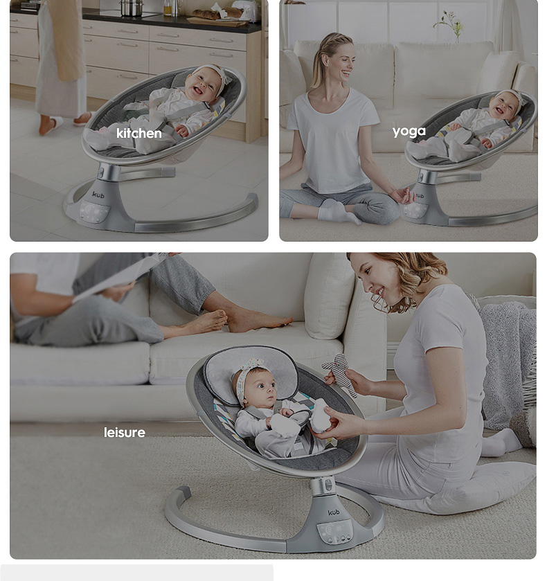 H49d86ab2379b42fe8e655dc60a104e2cj KUB Baby electric rocking chair baby cradle chair baby artifact sleepy newborn comfort chair shake with music