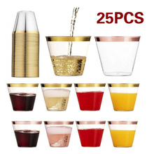 Transparent Plastic Cup 25pcs Family Ice Cream Party Portable Light One Time Disposable