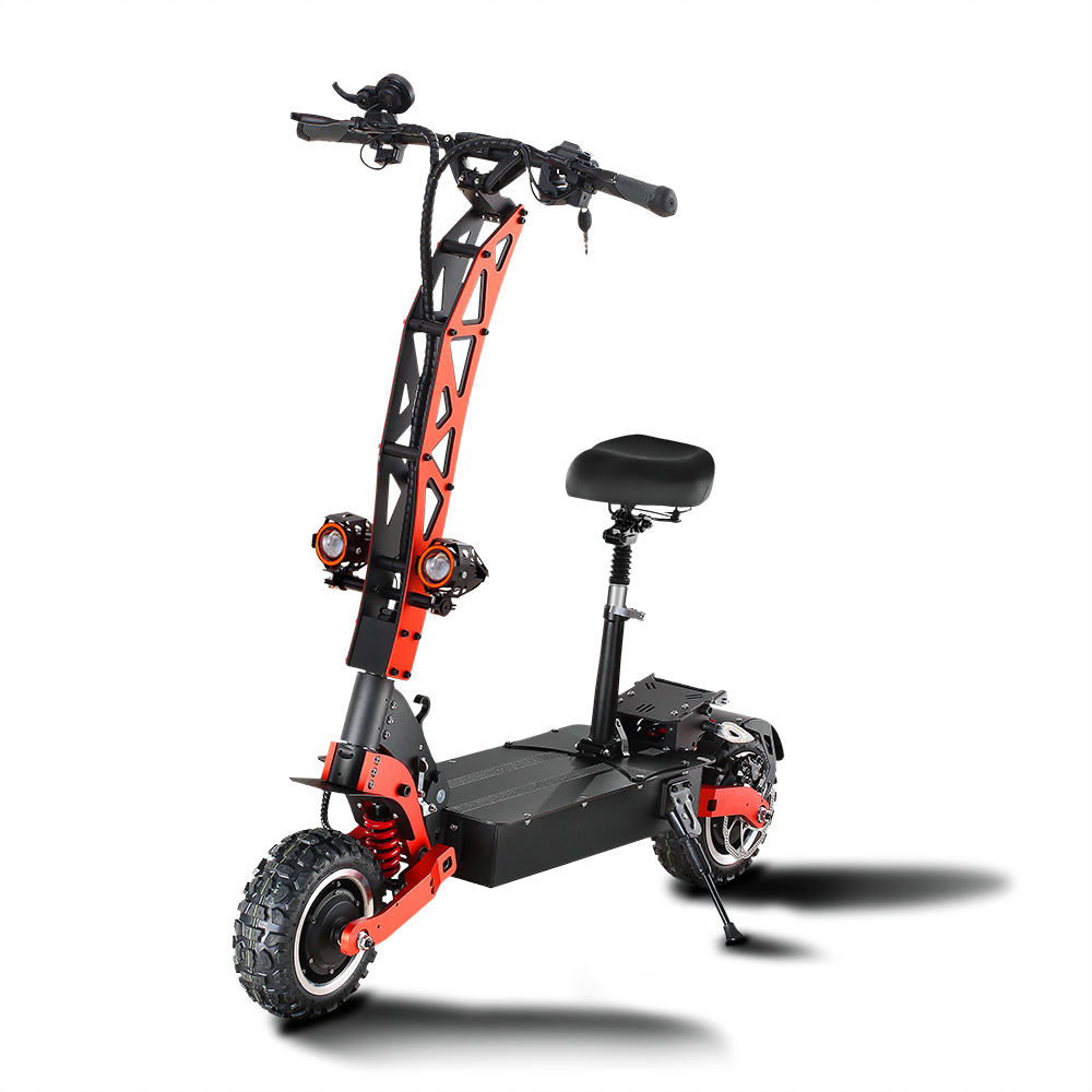 GUNAI Electric Scooter Double Drive 60V 30Ah 5600W 11inch Road Tire Foldable Electric Motorcycle Pedal For Adult