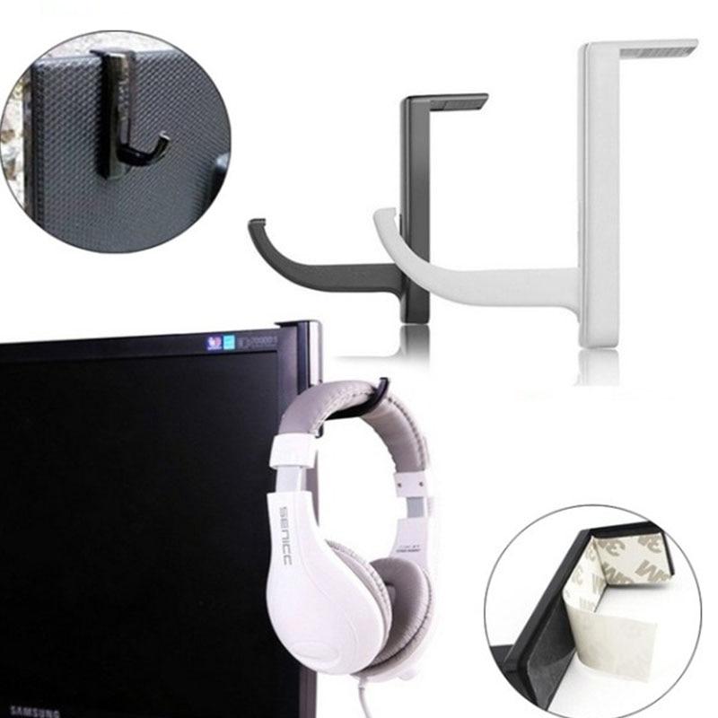 Home office headphone hook monitor headphone hook headset microphone stand display shelf bracket