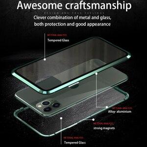 Image 3 - Voor Iphone 11 Pro 2019 Case Dubbelzijdig Gehard Glas Magnetische Adsorptie Full Body Anti Explosie Cover Voor iphone 11 Pro Max