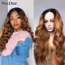 Ombre Body Wave Lace Wigs For Women Colored Brazilian Body Wave Human Hair Wigs Density 180 13x1 T Part Lace Human Hair Wig Remy