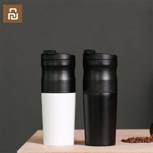 Image 1 - Youpin LAVIDA électrique en acier inoxydable café 427ML broyeur Double couche filtre Mini cuisine moulin café grain mouture café