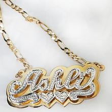 Gargantilhas nome de prata gargantilhas nome de corrente de freio personalizado gargantilhas nome da placa colar