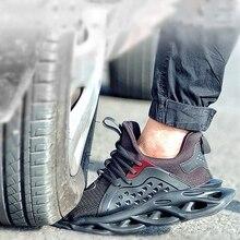 37~48 Fashion Safety Shoes Steel toe work shoes Anti-smashin