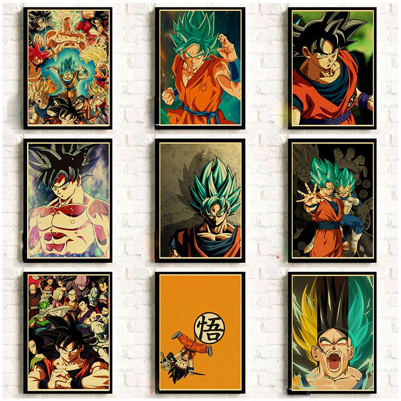 Japanese Anime Movie Dragon Ball Vintage Posters Good Quality Printed Retro Wall Poster Room Decorative Painting Home Art