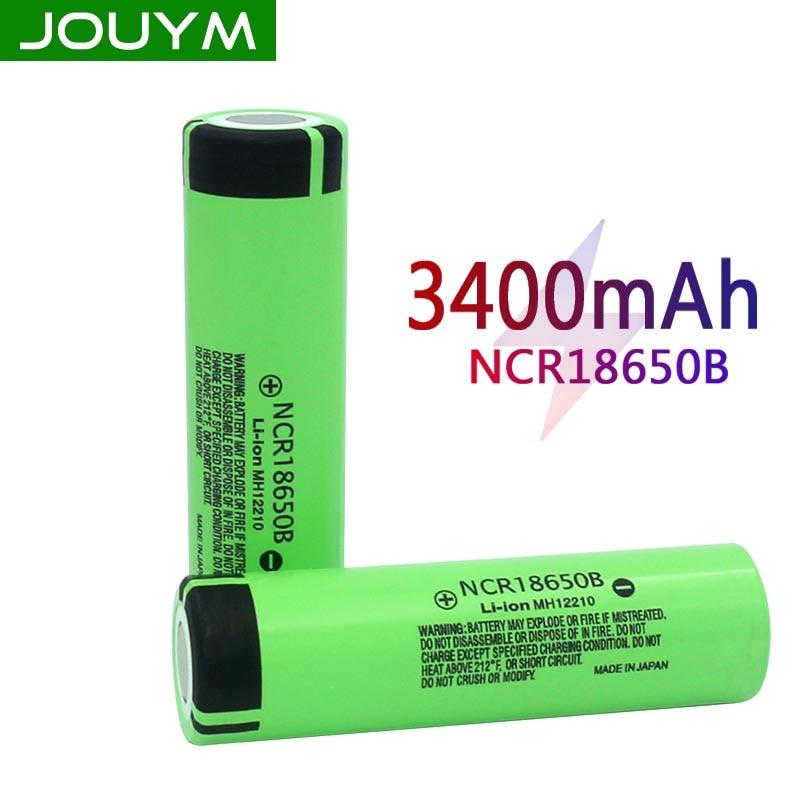JOUYM Original 18650 Battery NCR18650B 3.7 V 3400mah 18650 Li-ion Rechargeable Battery