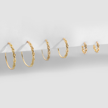 Gold Silver Color Stainless Steel Hoop Earrings for Women Small Simple Round Circle Huggies Ear Rings Steampunk Accessories 5