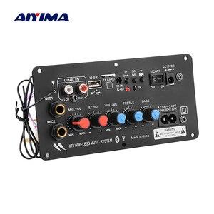 Image 1 - AIYIMA Subwoofer Digital Bluetooth Amplifier Board Dual Microphone Karaoke Amplifier Reverb 12V 24V 220V For 8 12 Inch Speaker