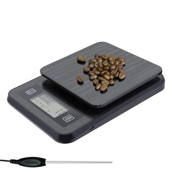 USB charging Intelligent Coffee scale Precision with timing function probe Kitchen scale High Precision 0.1G Electronic weighing