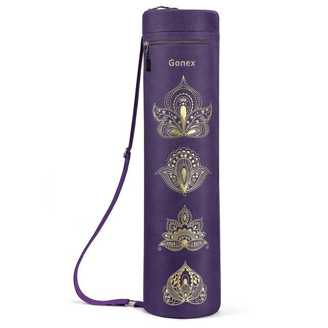 Gonex Yoga Mat Bag, Full Zip Exercise Gym Carry Bag Durable Waterproof Oxford Cloth with 2 Pockets, Adjustable Shoulder Strap