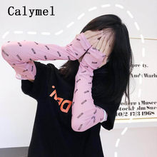 Calymel Women Sunscreen Arm Long Gloves Cuff Sun Hand Protection Simple Design Summer Driving Arm Warmers(China)