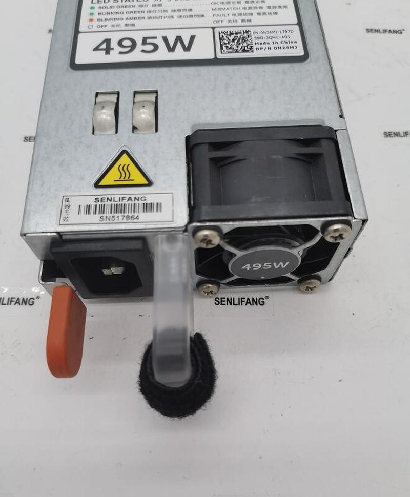 PSU For Dell R720 730 620 520 T620 720 495W Power Supply D495E-S0 DPS-495AB A E495E-S1 N24MJ 3GHW3 33MD5 F495E-S0 9338D