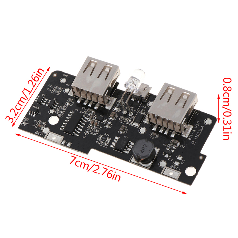 Charging PCB Circuit Board DIY Dual USB Output LED for Power bank 5V 2A Power Bank Charger Module Step Up Boost Power Supply