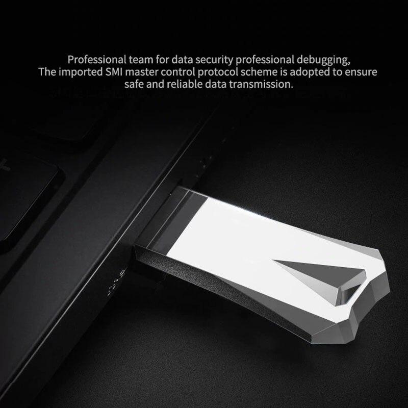 Buy Metal usb 128GB 64GB 32GB 16GB 8GB memory cle stick drives high-speed waterproof Pen drive flash drives USB Flash Stick