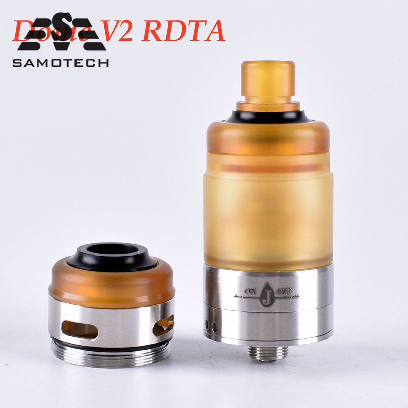 100%Original Shenray Dome V2 22mm RDTA Atomizer 316 SS E Cigarette Vaporizer 24mm Diameter 3.5ML Tank Suit For 510 Box Mod Vapor