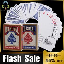 Newest Jdlroyal Poker Red Blue Regular Playing Cards Standard Sealed Decks Magic Tricks Poker Playing Cards Magice Tricks GYH cheap 3 Years Unlimited Primary Normal Paper Magic Category