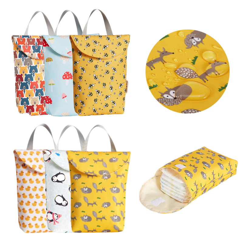 Baby Diaper Storage Bag Portable Waterproof Diaper Bag Reusable Diaper Organizer Big Capacity Outdoor Mommy Bag For Newborn Baby