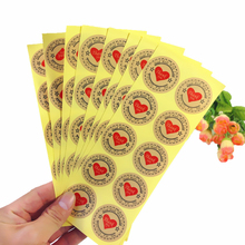 120pcs/pack Pentagram Red Love Thank You Cowhide Color Seal Sticker Adhesive Kraft Baking Gifts