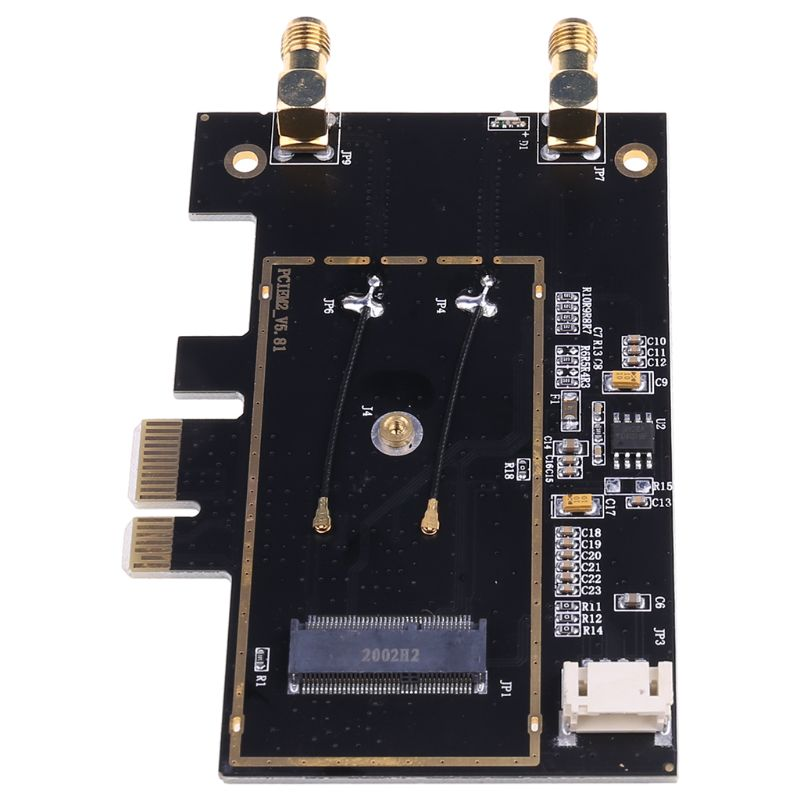 WTXUP NGFF M2 to PCIE AC Converter <font><b>Adapter</b></font> Card <font><b>AX200</b></font> 9260 8265 1650A for Laptop PC image
