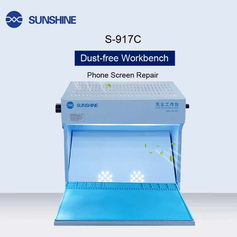 SS-917C Dust Free Working Room Anti Dust Working Bench Adjustable Wind Cleaning Room For Phone Refurbish Repair Workbench