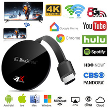 G7 plus 4k hdmi wi-fi sem fio display 2.4g tv vara espelhamento airplay miracast tv display receptor dongle para ios android