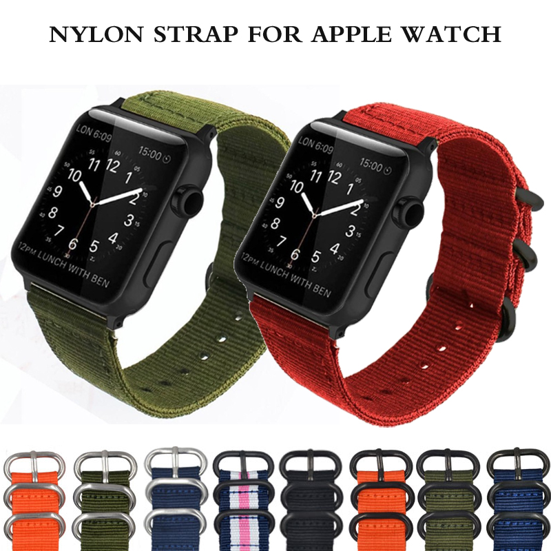 Strap for Apple watch band 5 4 3 44mm 40mm correa iwatch band 42mm 38mm Sport Nylon wrist Bracelet belt Apple watch Accessories