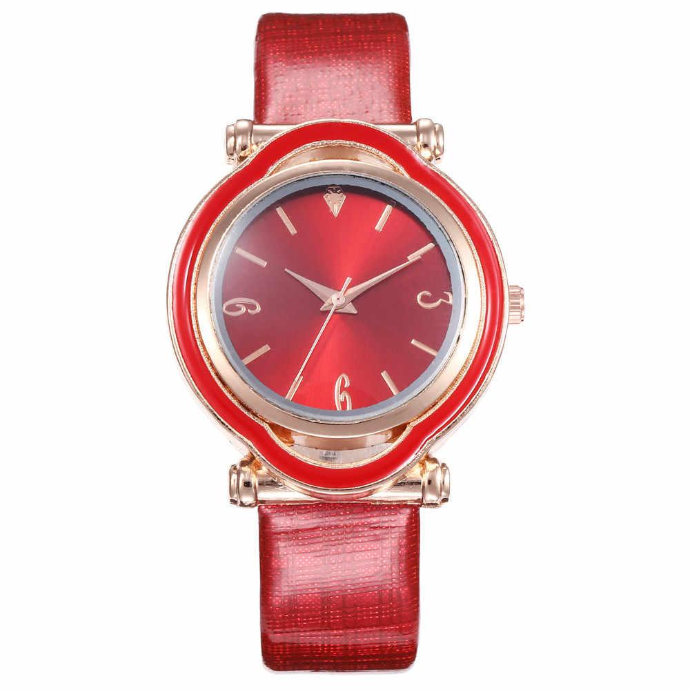 Kadın Zaman Ince saat kayışı Deri Analog Basit Arama kol saati Hediyeler Yeni Stil Rahat Yüksek Kaliteli Basit Saf Renk Izle