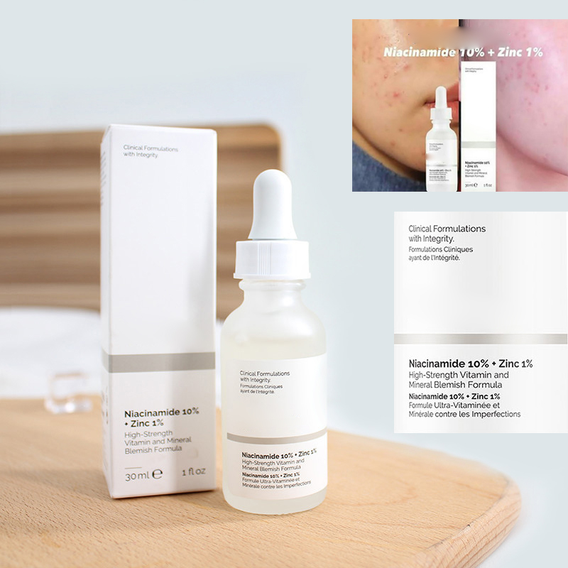 The Ordinary Niacinamide 10% + Zinc 1% Anti Aging Firming Reduce Wrinkle Reduces Pigmentation Brightening 30ml Hyaluronic Acid