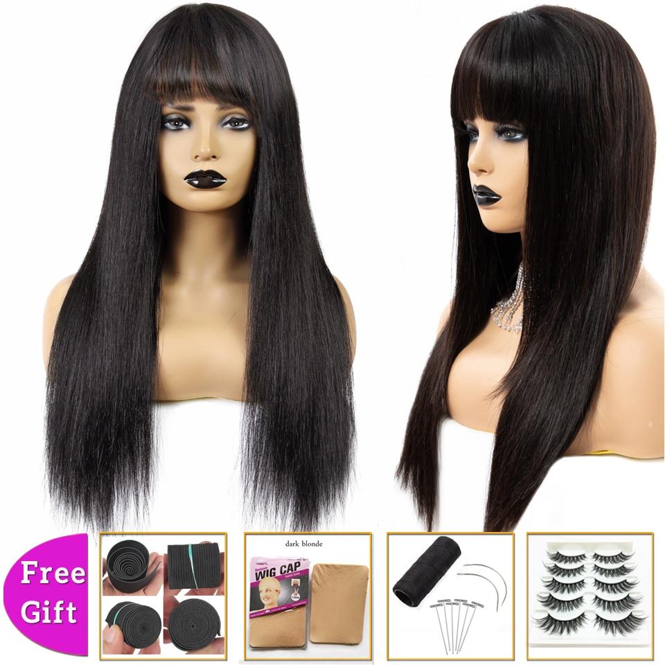 BEAUTY GRACE Brazilian Hair Wigs Cheap Straight Short Human Hair Wigs For Women Non-Remy Pixie Cut Bob Wig Machine 150% Density