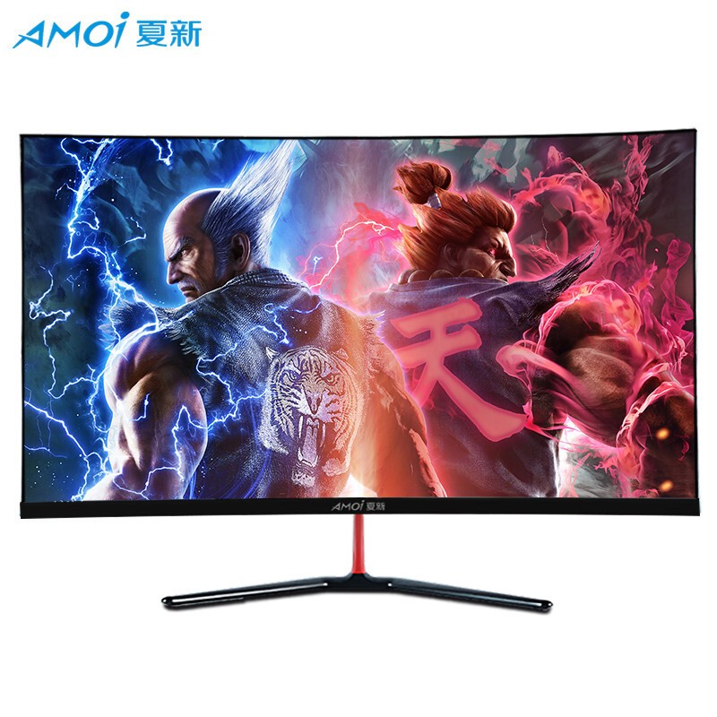 Amoi 32 Inch 75Hz 1920*1080 LED Curved Monitor PC Gamer For Game Computer Screen LCD Display Full HD Input 1ms Respons HDMI/VGA