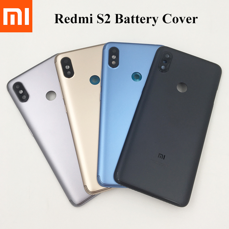 100% Original New Xiaomi Redmi S2 Y2 Battery Back Cover Rear Housing Rear Door Camera Glass Lens Repair Spare Parts + Side Key