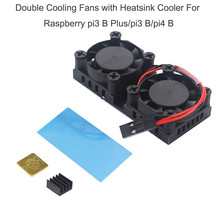 Hot sale Double Cooling Fans with Heatsink Cooler For Raspberry pi3 B Plus/pi3 B/pi4 B Computer