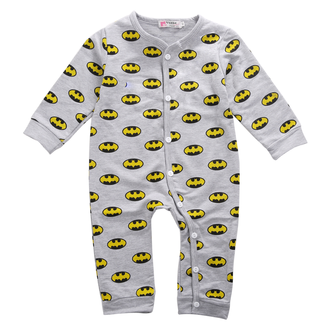 Toddler Infant Baby Boys Girls Sunflower Jumpsuit Long Sleeve Button Pajamas Romper for Sleep Play