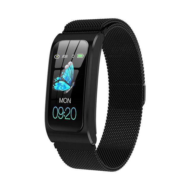 Smart Bracelet AK12 Color Screen Rechargeable Heart Rate Monitor Smart Watch IP67 Waterproof Bluetooth-Compatible Sports Watch 1