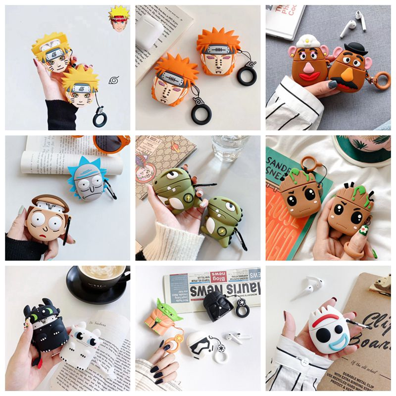 Charging Earphone Case For Air Pods Charging Protective Box Cute Minnie Duck Dog Paw Bags For Apple AirPods 1 2 Headphone Cover