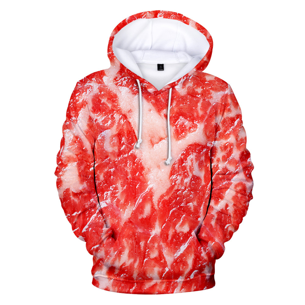 2020 Fashion Trend 3D Hoodie Europe And America New Pork Personality Pork Belly Hooded Sweatshirt Men Women Pocket Fun Clothes