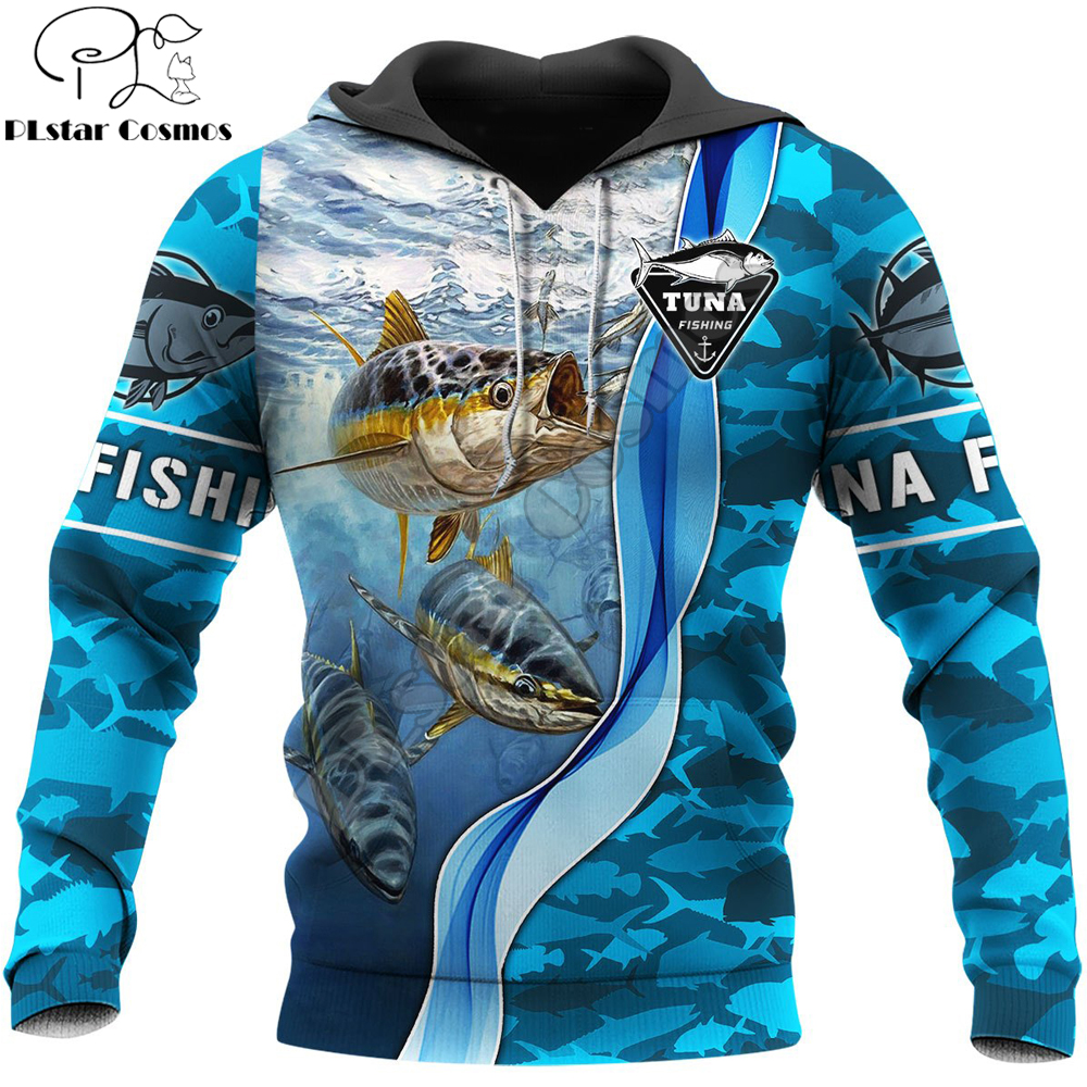 Tuna Fishing 3D All Over Printed Mens hoodies Harajuku Streetwear Hoodie Unisex Casual Pullover Autumn Jacket Tracksuits KJ0125