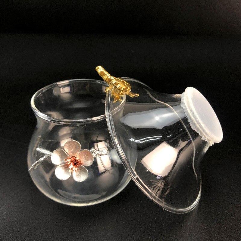 calor filtro criativo transparente estanho flor chá