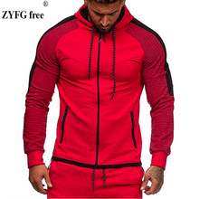 2019 autumn mens hoodie stitching casual loose hooded comfortable outdoor sports multicolor male clothing EU size