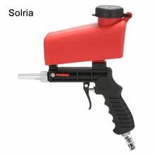 Portable 90psi Gravity Sandblasting Gun Pneumatic Small Sand Blasting Machine Adjustable Pneumatic Sandblasting Set Power Tools
